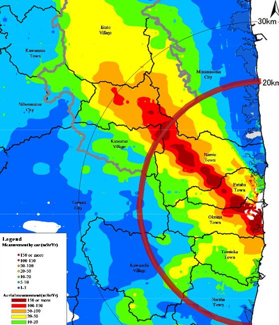 January Nuclearnews - Japan radiation map 2014