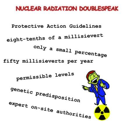 Doublespeak nuclear radiation