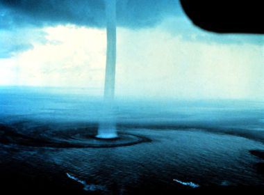 Waterspout off the Florida Keys. Photo by Dr. Joseph Golden, NOAA. US Government image. Public Domain. Wikimedia Commons.