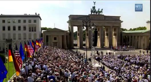 Obama Brandenburg Gate 2013