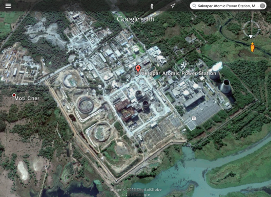 Kakrapur nuclear power station zoom in