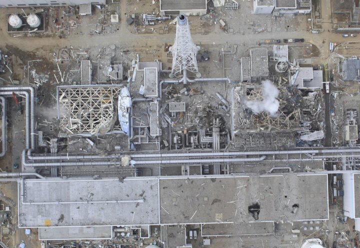 Fukushima Daiichi Nuclear Plant – April 2011, Unit 3 (Right) Unit 4 (Left)