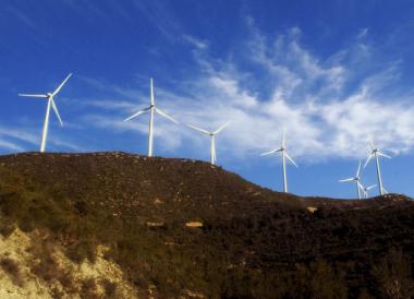 Onshore wind farm turbines pic credit MorgueFile.