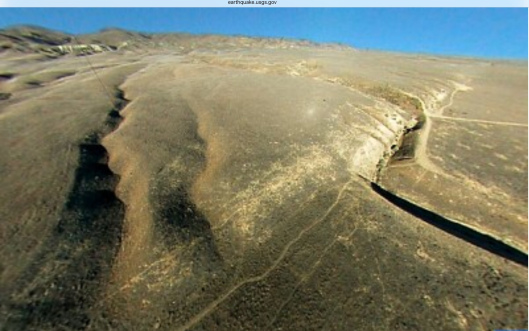 USGS Scott Haefner  January 9, 1857, the M 7.9 Fort Tejon earthquake just N. of Carrizo Plain, Wallace Creek, in the Carrizo Plain, the fault moved 30 feet (9m), forming the offset stream channel