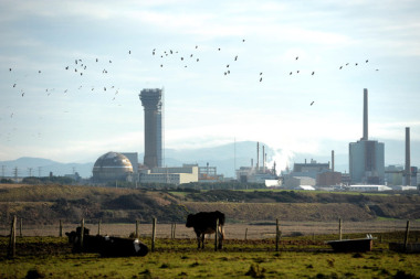 Sellafield nuclear plant. Source: Owen Humphreys / PA Wire.