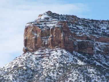Recently fallen snow on Colorado National Monument. Photo by Tewy. CC BY-SA 3.0. Wikimedia Commons.