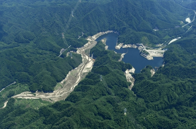Ogaki Dam in Namie, Fukushima Prefecture, sept 2016.jpg