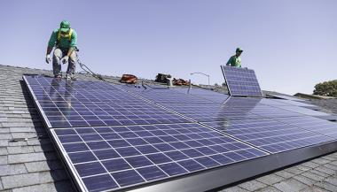 Solar panel installation (SolarCity)