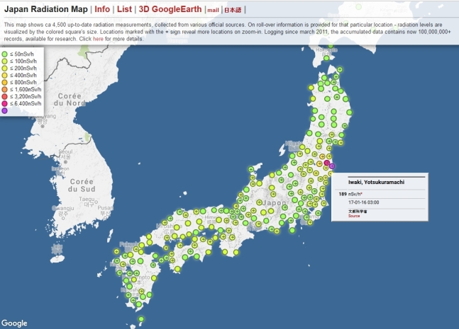Japan Radiation Map Interactive Nuclearnews - Japan map radiation