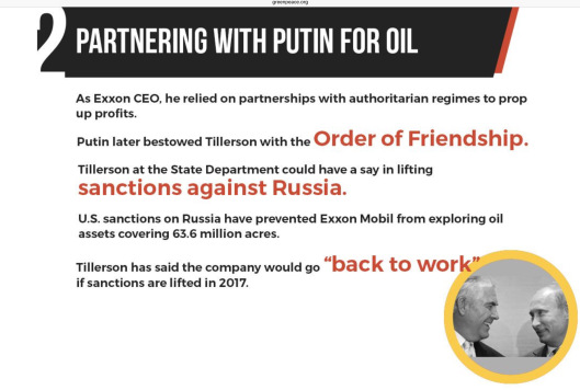 Tillerson Partnering with Putin for Oil Greenpeace.org zoom