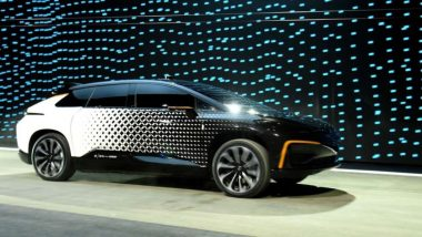 Faraday Future's FF 91 prototype (Photo: AFP / Reuters)