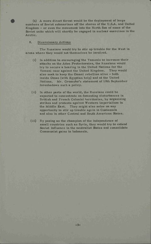 19 Sept. 1957 Possible Soviet reactions to United States policy on Syria UK Gov CAB 301/148 Annexe A p. 3