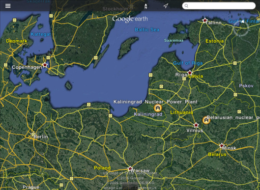 Belarus and Kaliningrad Nuclear Power Station plus Lithuania