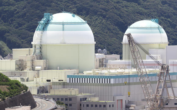 Ikata power plant's No.2 reactor, right, and No. 3 reactor