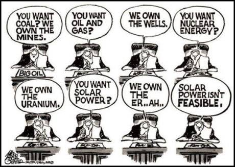 nuclear fossil fuel 1 percent solar wind 99 percent Thinking People