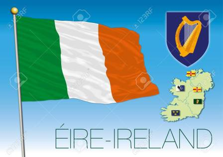 88721877-ireland-flag-map-and-regional-flags-eire