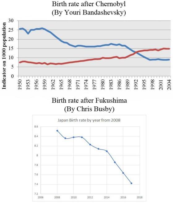 chernobyl & fukushima birthrates