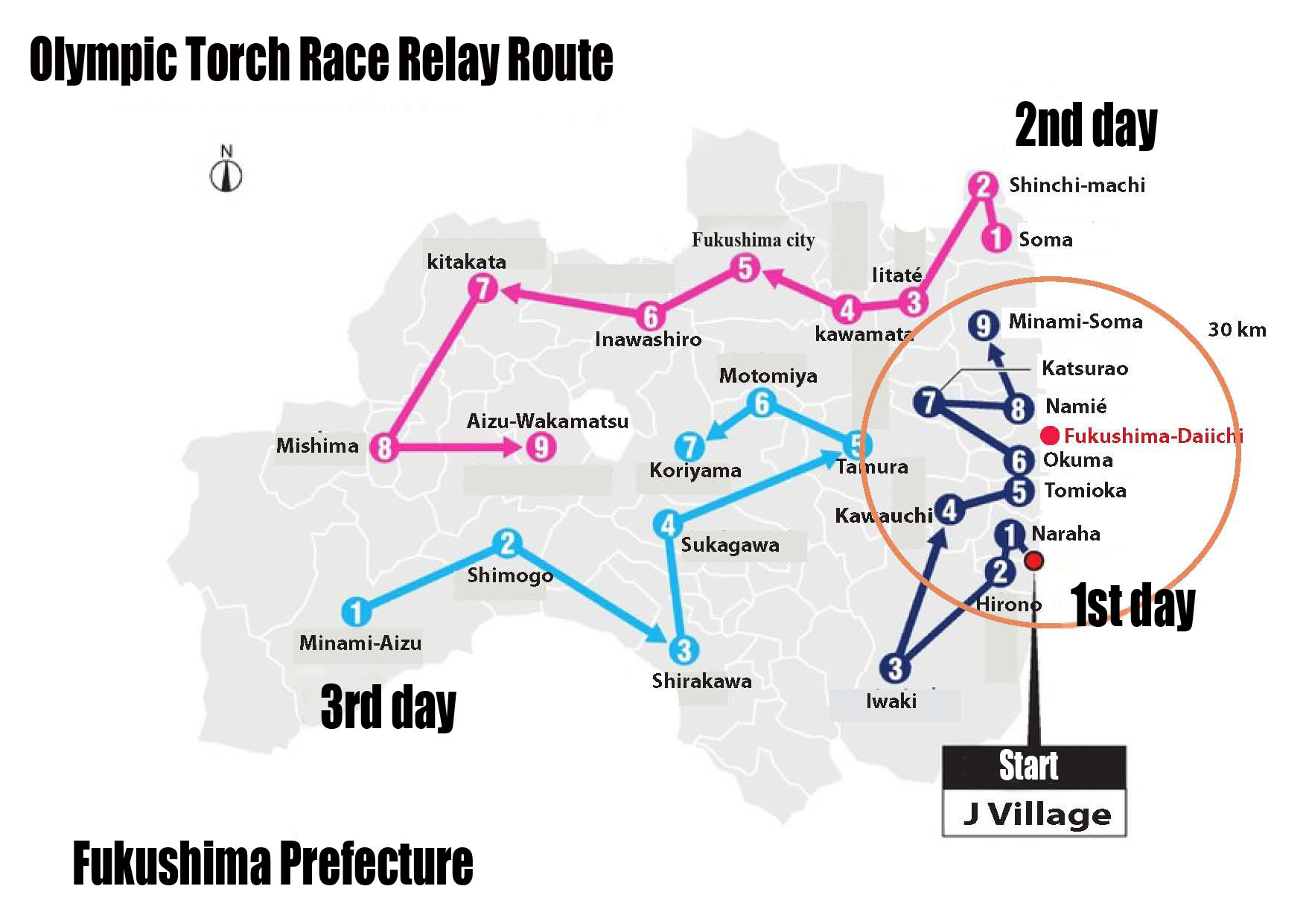olympic torch race relay course
